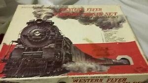 Vintage Haji Japan Western Flyer Freight Train Set Battery Operated For Repair