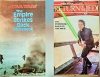 Star Wars Story Book Return of the Jedi 1983 and Empire Strikes Back Vtg Lot (2)