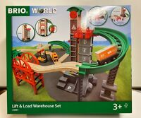 Brio World Wooden Railway Lift & Load Warehouse Set #33887