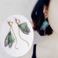 Wings Dangle Earring Ear Clip For Women Girls Jewelry Asymmetrical Earrings