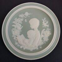 Franklin Porcelain 1977 Mother's Day Limited Edition Parian Porcelain Plate
