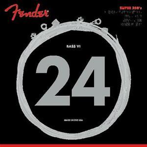 Fender Super 250 Bass VI Nickel-Plated Steel Ball End Strings 24-100 - 6 Strings