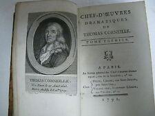 1791 Volume 1&2 Chef D'Oeuvres Dramatiques De Thomas Corneille A Paris Excellent
