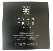 Avon True Color Flawless Mattifying Pressed Powder Light Medium New Last One