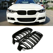 2pc Gloss Black Front Kidney Grille For BMW F30 F31 F35 3 Series Sedan 2012-2014