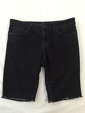 Jessica Simpson Forever Skinny Shorts Black Denim Size 29