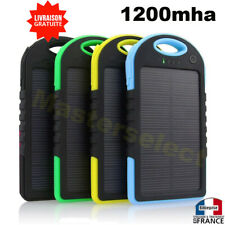 Power Bank Caricabatteria Batteria Solare 12000mAh per Cellulare Spiaggia