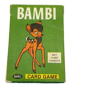 Vintage 1965 Russell Walt Disney BAMBI Children's Playing Cards Card Game