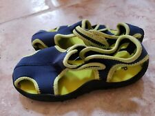 Kids GAP Water Shoes Size 11 blue and neon yellow trim