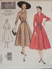 Amazing Repro VTG '52 VOGUE 2401 Misses Dress with Wrap Skirt PATTERN 6-8-10 UC