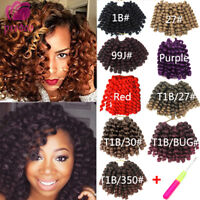 Jumpy Bounce Curly Crochet Braids Jamaican Wand Curl Synthetic Hair Extensions