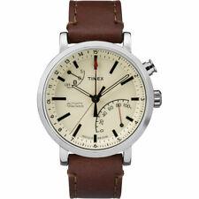 Reloj Timex Hombre Reloj metropolitana + Crema Dial rastreador de actividad smart TW2P92400