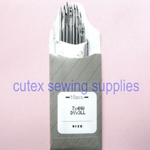 10 Organ 7X4NW DYX3LL 794LL Leather Point Sewing Machine Needles Singer Consew