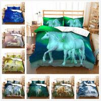 3D Unicorn Horse Bedding Set Duvet Cover Quilt Cover Pillowcase Comforter Cover