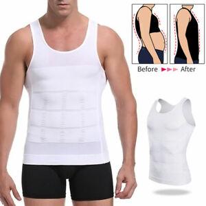 Men's Belly Control Slimming Compression T-Shirt Top Vest Body Shaper Vest Tees