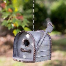Birdhouse Mailbox All Metal Bird House Galvanized new cool detail