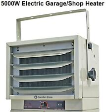 Comfort Zone Heater Garage Shop Utility Industrial Use 5000W 17000BTU 208/240V