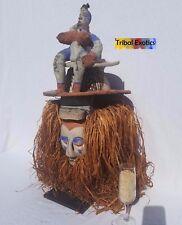 4-DAY SALE Tribal African Art Yaka Bayaka Initiate Mask Figure Sculpture Statue