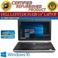 "C Grade Dell Latitude E6420 14"" Intel i7 4 GB RAM 320 GB HDD Win 10 WiFi Laptop"