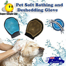 Soft Bathing and Deshedding glove True touch  Pet Dog Cat Massage Grooming  Wash
