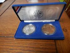US Mint, America In Space, 2 Proof Coin,Silver And Bronze