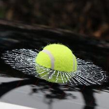 3D Tennis Ball Hits Car Stickers Funny Car Body Window Self Adhesive Decal PVC