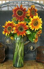 AUTUMN BEAUTY SUNFLOWERS / LATE SEASON PRODUCER / ORANGE BRONZE RED GOLD YELLOW