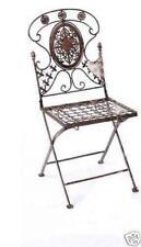 Chaise avis en métal fer forgé Pliante 1840 de jardin bistrot