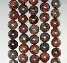 12MM  MUSCOVITE GEMSTONE GRADE AA BROWN ROUND LOOSE BEADS 16""
