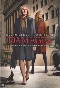 Damages : Season 3 (DVD, 2010, 3-Disc Set) Glenn Close, Rose Byrne