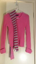 Girls Pink V Neck Long Sleeve Pullover Sweater Cotton 10/12 New Faded Glory