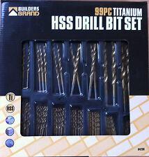 99pc Hss Titanio larga vida Drill Bit Set 1.5 mm - 10mm almacenamiento Funda Gran valor!