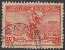 1936 (P66) Australia 2D Red TAS Telephone Cable SG159