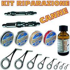 kit per riparazione e montaggio canne da pesca attrezzatura completa