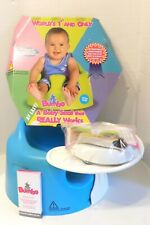 New listing Bumbo Baby Floor Seat Blue with Play Tray and Safety Restraint Belt