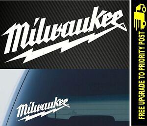 Milwaukee Tools Heavy Duty Logo Decal Sticker Sawzall Drill Saw Impact M12 M18