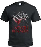 Game of Thrones Stark T-Shirt The North Remember Black Cotton Tee Men's Shirt