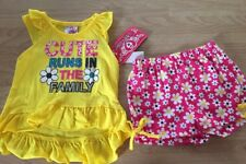 Real Love Infant Girls 18 Months Outfit Flowers Cute runs in The family New