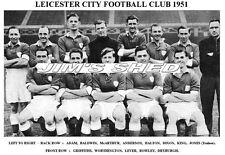 LEICESTER CITY F.C.TEAM PRINT 1951 (ROWLEY / WORTHINGTON / LEVER)