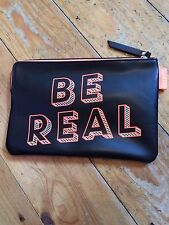 Real Negro Naranja Impermeable Benefit Be Bolsa Bolsa De Maquillaje 22 cm X 15 cm maquillaje