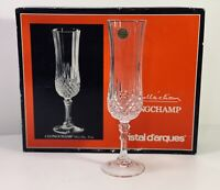 Longchamp Fluted Champagne Glass Set (4) Cristal D'arques 5oz J.G. Durand ~ NEW