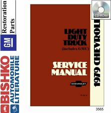 OEM Digital Repair Maintenance Shop Manual CD Chevy Truck C//K 10-30 Series 1979