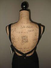 NICOLE MILLER SZ 6 Black Rayon Maxi Dress Gown Backless w Train NWT $420