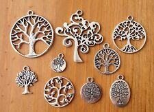 10x Mixed Designs Tibetan Silver Family Tree of Life Charms Pendants (TSC54)