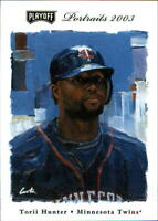 2003 Playoff Portraits #19 Torii Hunter (BUY 10=FREE S/H)