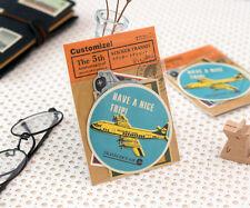 Aufkleber   Stickers, für Traveler's Notebook, «Transit» von Midori, 8 Stickers