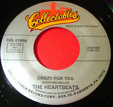 """The Heartbeats Crazy For You 7""""US RI Collectables Darling How Long Doo Wop VINYL"""
