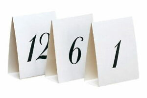 White Table Numbers For All Occasions