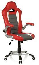 Sedia girevole Sedile Sportivo Racer Sport ecopelle Rosso Bianco HJH Office