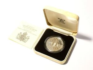 1980 Elizabeth Queen Mother 80th Birthday Proof Silver Crown Coin COA Boxed #QM1